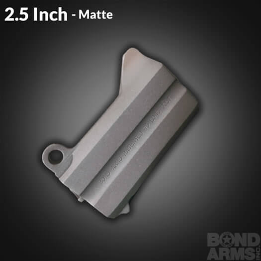 2.5 Inch Accessory Barrel - Backup Matte Finish (Bead Blasted)