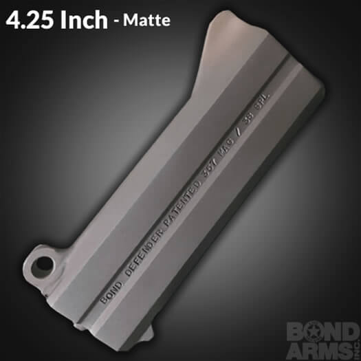 4.25 Inch Accessory Barrel - Backup Matte Finish (Bead Blasted)