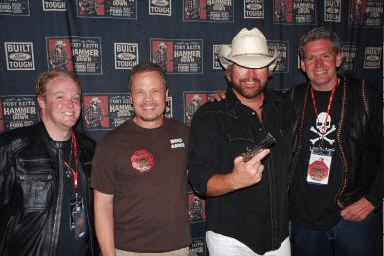 Bond Arms Hangs out with Toby Keith and Rich Wyatt from Gunsmoke