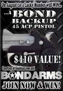 Win A Bond Arms Backup .45ACP Handgun