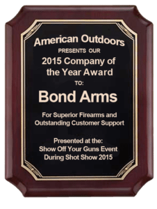 Bond Arms Award