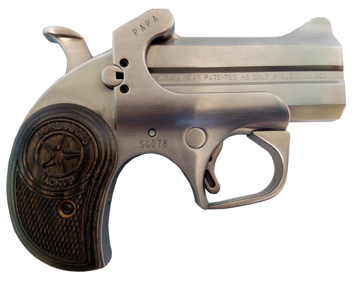 Wooden Backup Grips Bond Arms